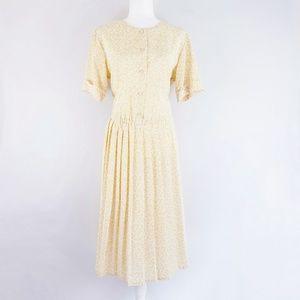 Diane Von Furstenberg Vintage 80s Pleated Dress